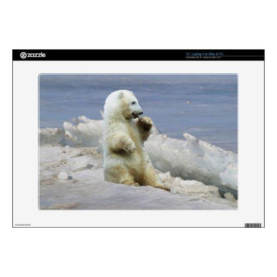 Cute Polar Bear Cub & Arctic Ice Laptop Skin