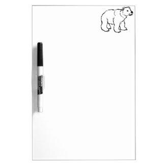 Cute Polar Bear Cub Dry-Erase Boards