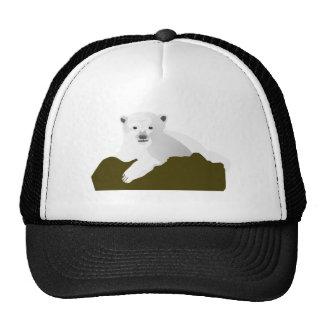 Cute Polar Bear Cub on a Log Trucker Hat
