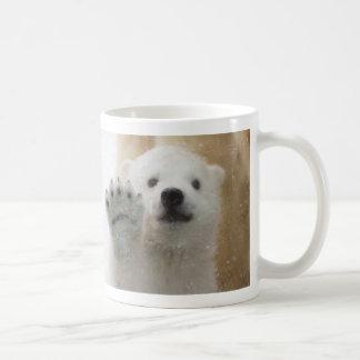 Cute Polar Bear Cub Waving Coffee Mug