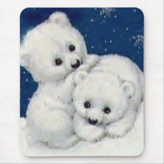 Cute Polar Bear Cubs Mousepad