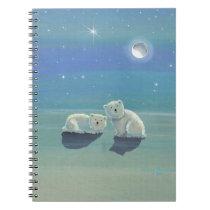 Cute Polar Bear Cubs Notebook