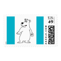 Cute polar bear design cards and paper products postage