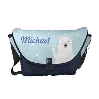 Cute Polar Bear Diaper Bag - Personalized