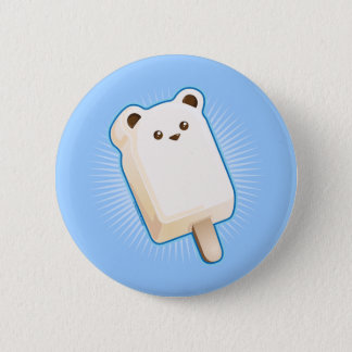 Cute Polar Bear Ice Cream Bar Button