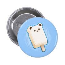 Cute Polar Bear Ice Cream Bar Button