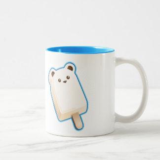 Cute Polar Bear Ice Cream Bar Two-Tone Coffee Mug