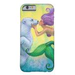 Cute Polar Bear Kiss Mermaid Fantasy iPhone 6 case