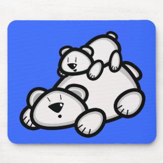 Cute Polar Bear Parent and Cub Mouse Pad