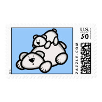 Cute Polar Bear Parent & Cub Postage