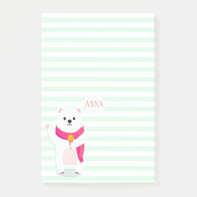 Cute Polar Bear | Personalized Notes