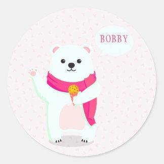 Cute Polar Bear Personalized Stickers
