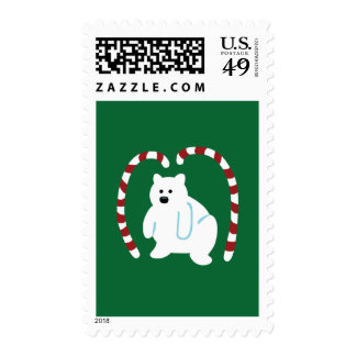 Cute Polar Bear Postage Stamps