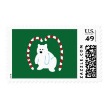 Cute Polar Bear Postage