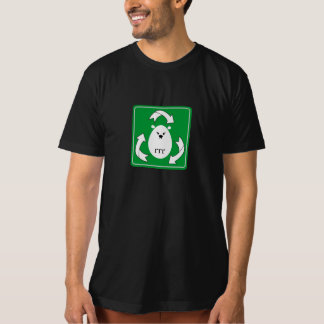 Cute Polar Bear Recycle Design (square) T-Shirt