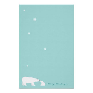 Cute Polar Bear Stationery: Always there for you