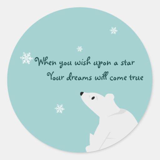 Cute Polar Bear Sticker - customizable