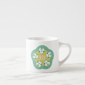 Cute Polar Bear Tea Break Monogram Espresso Mug