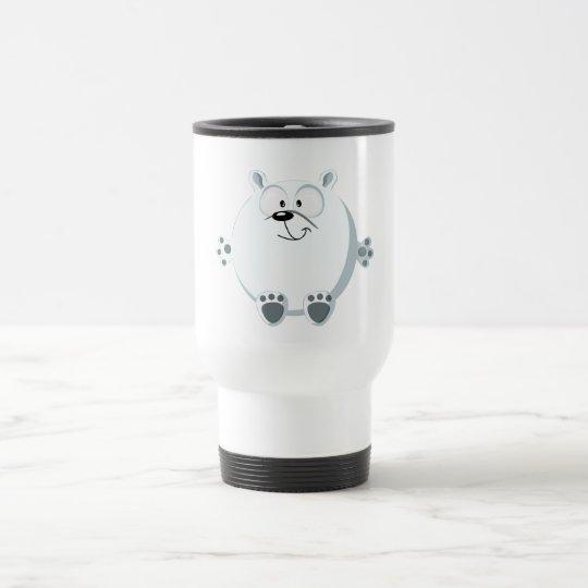 Cute polar bear travel mug
