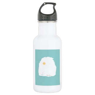 Cute Polar Bear try to get some fish and sun Stainless Steel Water Bottle