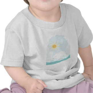 Cute Polar Bear try to get some fish and sun T-shirt