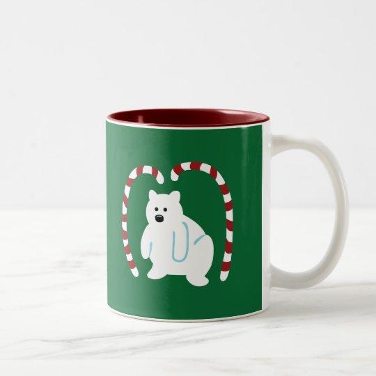 Cute Polar Bear Two-Tone Coffee Mug