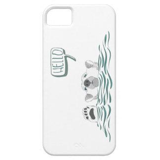 Cute polar bear waving from sea iPhone SE/5/5s case