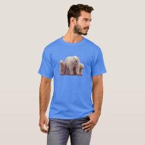 Cute Polar Bears Cubs Arctic Wildlife Men's Tshirt