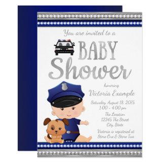 Cute Police Baby Shower Invitation