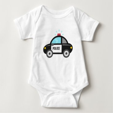 Toddler & Baby themed Cute Police Car with Siren Baby Bodysuit