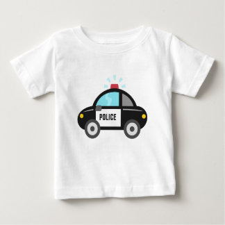Cute Police Car with Siren Baby T-Shirt