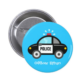Cute Police Car with Siren For Kids 2 Inch Round Button