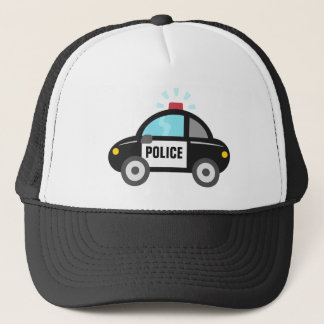 Cute Police Car with Siren For Kids Trucker Hat