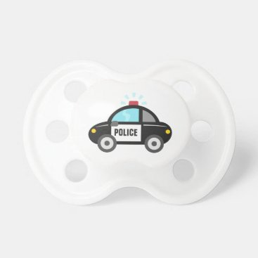 Toddler & Baby themed Cute Police Car with Siren Pacifier