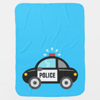 Cute Police Car with Siren Stroller Blanket