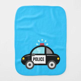 Cute Police Car with Siren Burp Cloth
