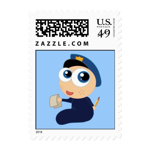 Cute Police Officer Stamps