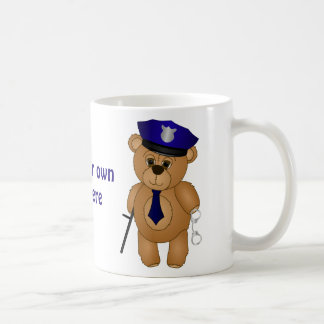 Cute Policeman Kids Teddy Bear Cartoon Mascot Coffee Mug