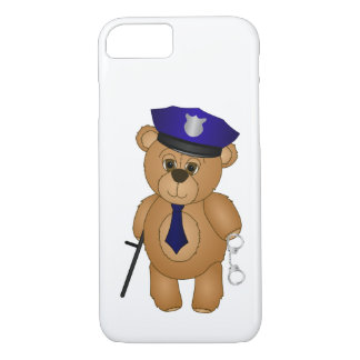 Cute Policeman Kids Teddy Bear Cartoon Mascot iPhone 7 Case