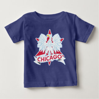 Cute Polish Chicago Flag Star Baby T-Shirt