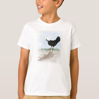 Cute Polish Chicken hunting a little lady bug like T-Shirt