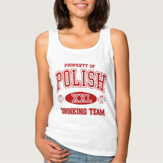 Cute Polish Drinking Team Tank Top
