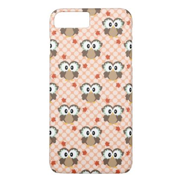 USA Themed Cute Polka Dot Autumn Owl iPhone 7 Plus Case