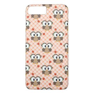 Cute Polka Dot Autumn Owl iPhone 8 Plus/7 Plus Case
