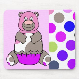 Cute Polka Dot Birthday Bear Mousepad
