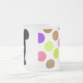Cute Polka Dot Black Kitty Cat Mug