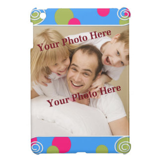 Cute Polka Dot Border Custom Photo Cover For The iPad Mini