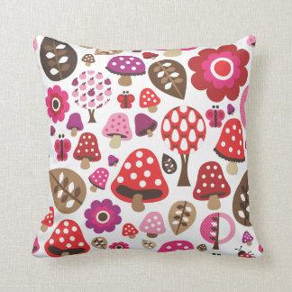 Cute polka dot butterfy flower retro pattern pillows