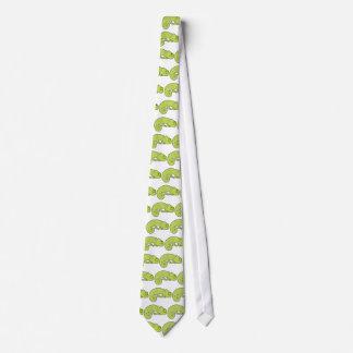 Cute Polka Dot Chameleon Neck Tie