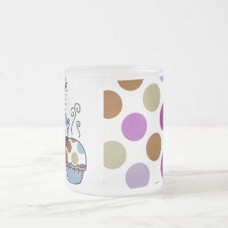 cute polka dot cupcake mug